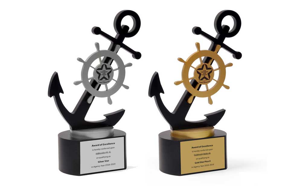Anchor-shaped Trophies