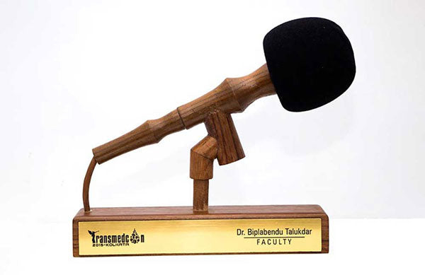 Microphone-themed Trophy