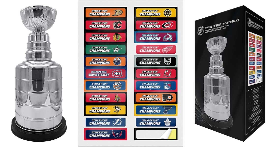 The Sports Vault NHL 14-inch Stanley Cup Champions Trophy Replica for Dad - Best Gifts for Men, Hockey Fans, Players, Coaches & Collectors
