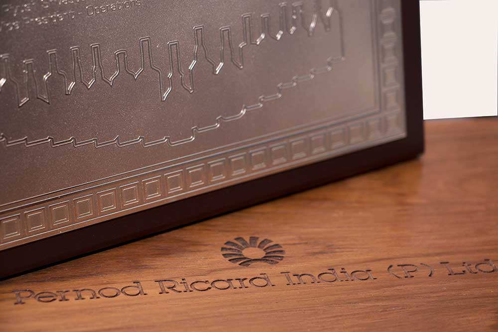 Pernod Ricard Silver-plated Plaque