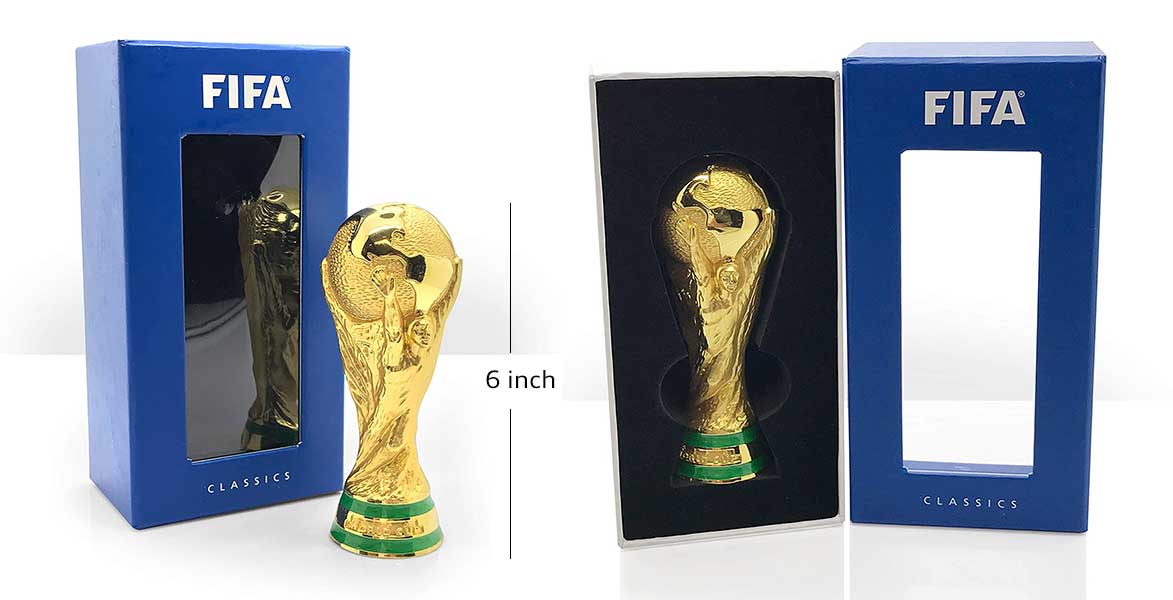 FIFA Unisex_Adult Classics World Cup Trophy 150mm in 3D Replica 150 mm, Gold