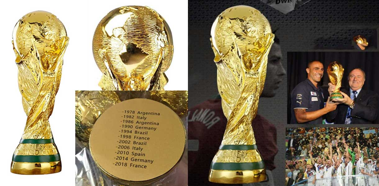 Nothers World Cup Trophy Hercules Football Fan Souvenirs Soccer Birthday Gift Customizable (21cm)