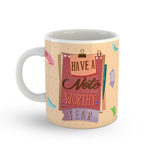 Note-Worthy Year Mug