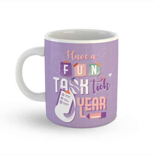 Fun-Task-Tick Year Mug Backside View