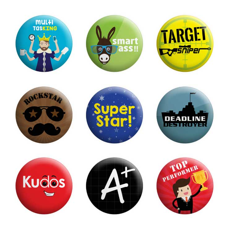 Employee Appreciation Badges (Pack of 50)
