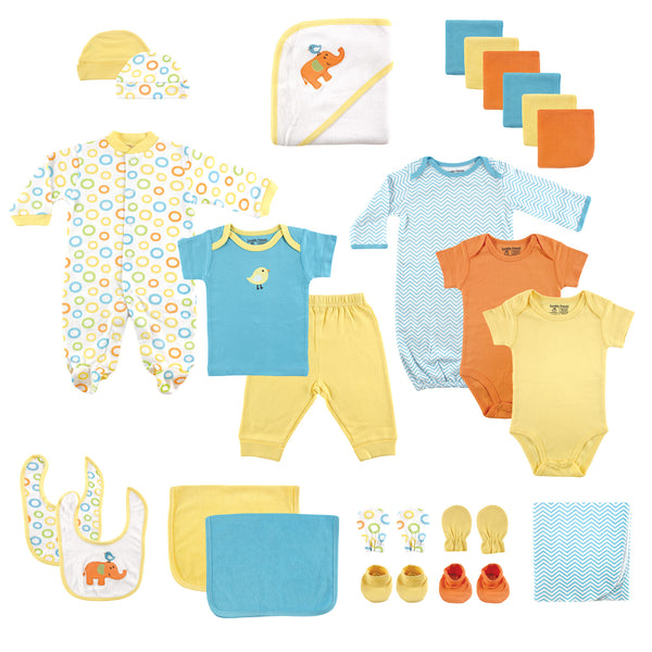 Luvable Friends Layette Gift Cube, Yellow Bird