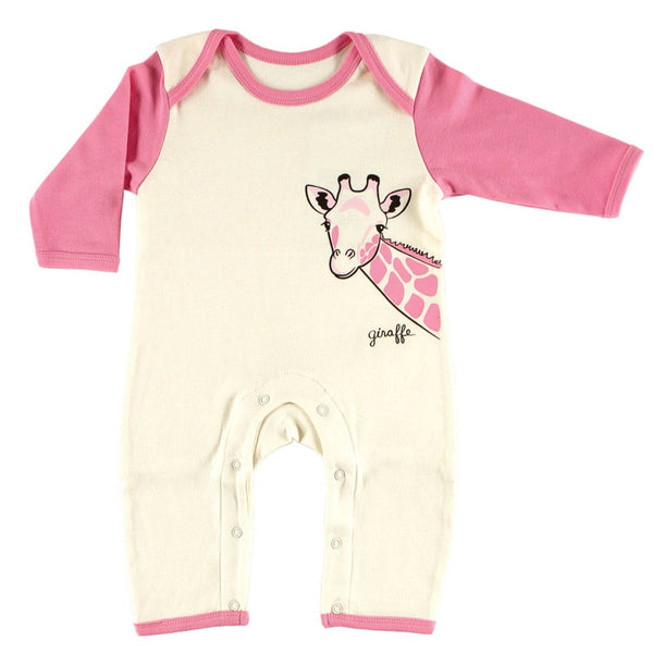 Touched by Nature Organic Cotton Coveralls, Giraffe 1-Pack