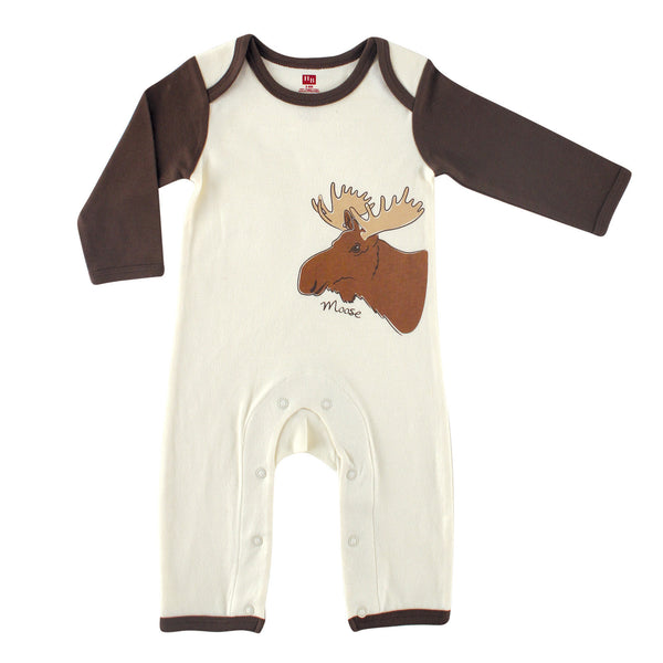 Touched by Nature Organic Cotton Coveralls, Moose 1-Pack