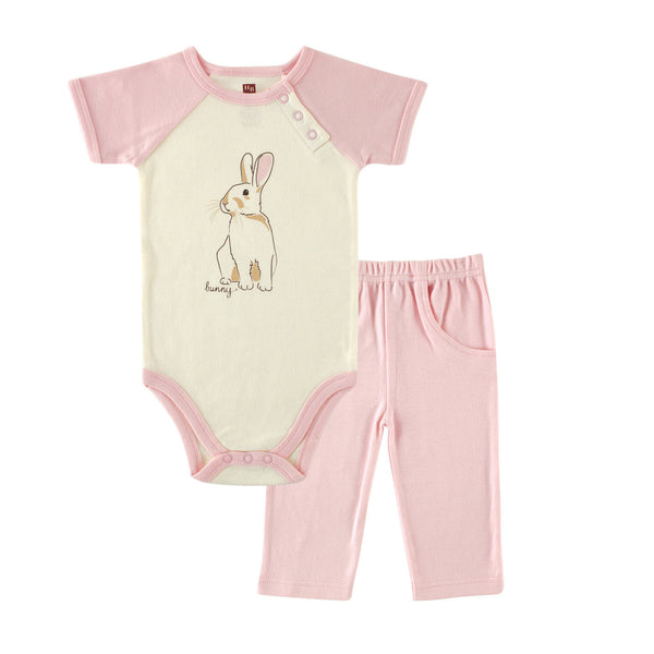 Touched by Nature Organic Cotton Bodysuit and Pant Set, Bunny