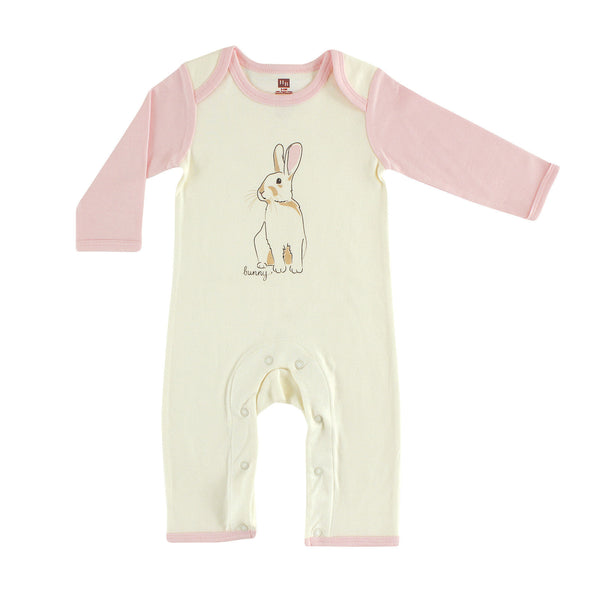 Touched by Nature Organic Cotton Coveralls, Bunny 1-Pack