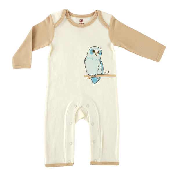 Touched by Nature Organic Cotton Coveralls, Owl 1-Pack