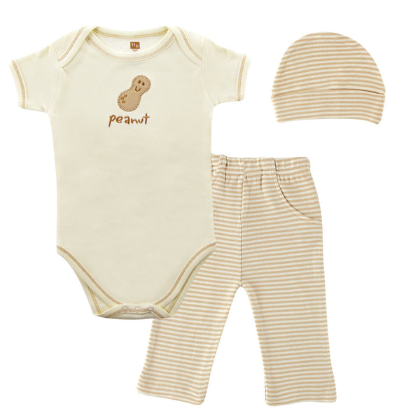 Touched by Nature Organic Cotton Bodysuit and Pant Set, Peanut