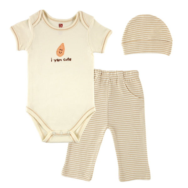 Touched by Nature Organic Cotton Bodysuit and Pant Set, Yam