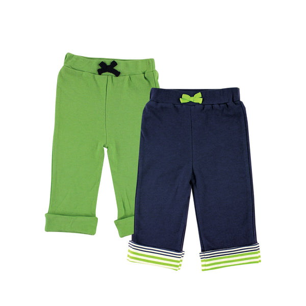 Yoga Sprout Cotton Pants, Turtle