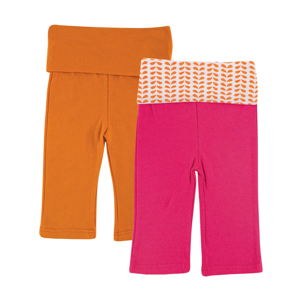 Yoga Sprout Cotton Pants, Pink Elephant