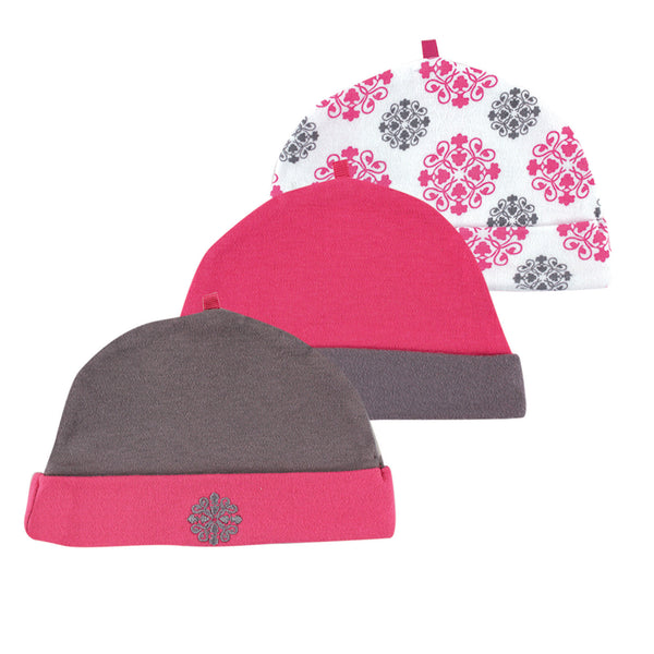 Yoga Sprout Cotton Caps, Pink Medallion