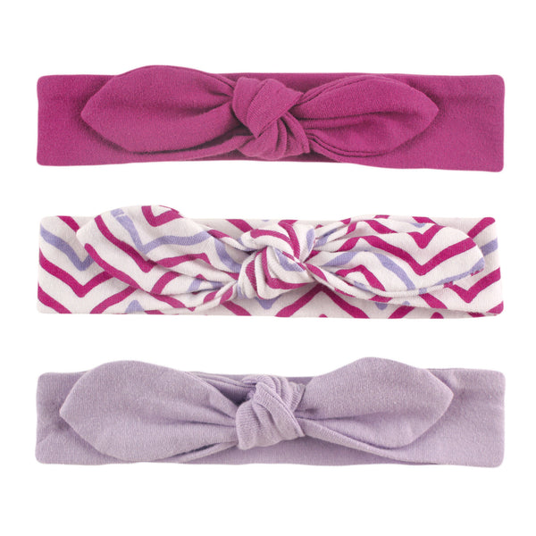 Yoga Sprout Cotton Headbands, Lotus 3-Pack