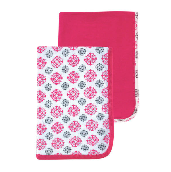 Yoga Sprout Cotton Swaddle Blankets, Pink Medallion