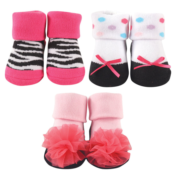 Luvable Friends Socks Giftset, Zebra