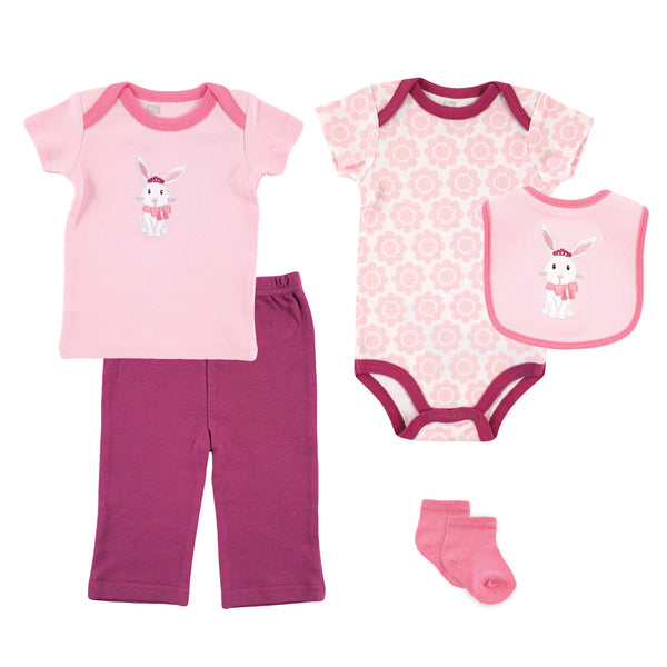 Hudson Baby 5-Piece Gift Set, Bunny