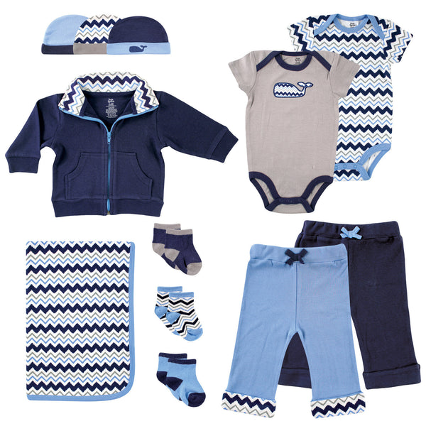 Yoga Sprout Cotton Layette Giftset, Whale