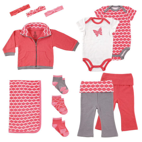 Yoga Sprout Cotton Layette Giftset, Butterfly