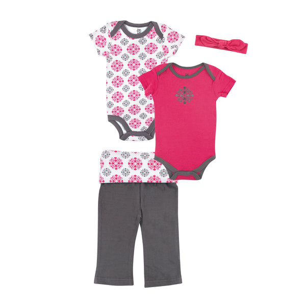 Yoga Sprout Cotton Layette Giftset, Medallion