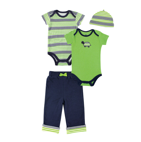 Yoga Sprout Cotton Layette Giftset, Turtle