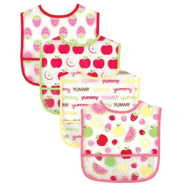 Luvable Friends Waterproof PEVA Bibs, Pink