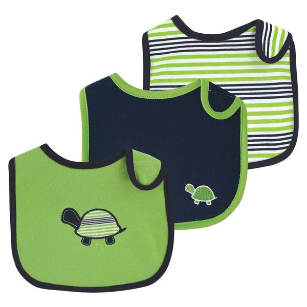 Yoga Sprout Cotton Bibs, Turtle