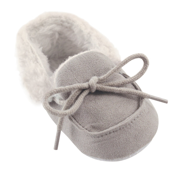 Luvable Friends Moccasin Shoes, Gray