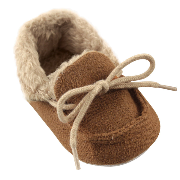 Luvable Friends Moccasin Shoes, Chestnut