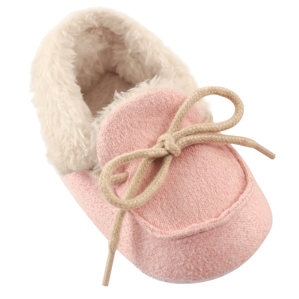 Luvable Friends Moccasin Shoes, Pink