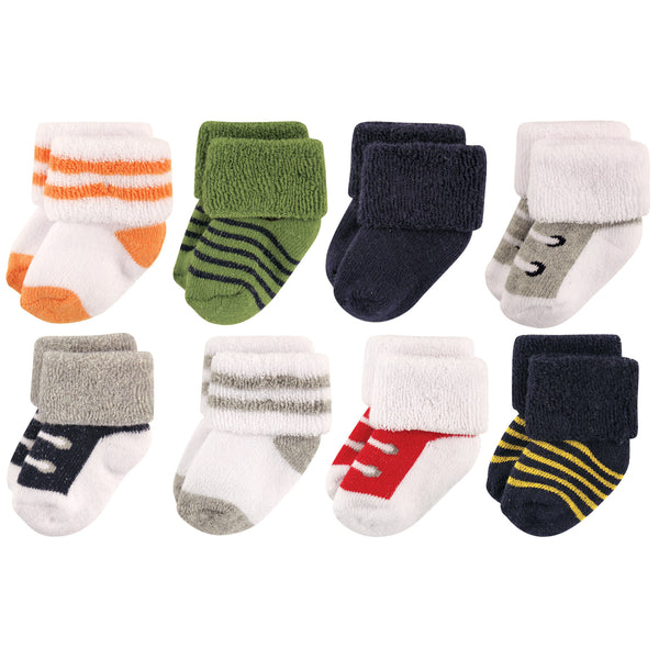 Luvable Friends Newborn and Baby Terry Socks, Athletic