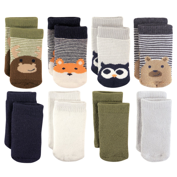 Luvable Friends Fun Essential Socks, Fox Owl