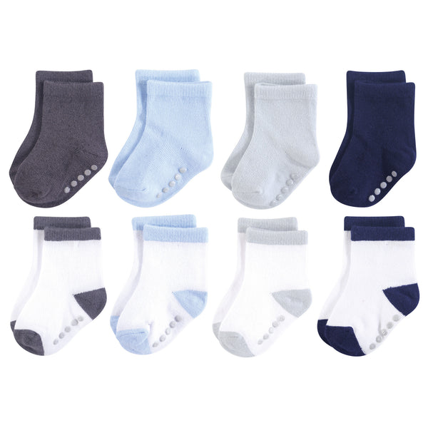 Luvable Friends Fun Essential Socks, Blue Gray