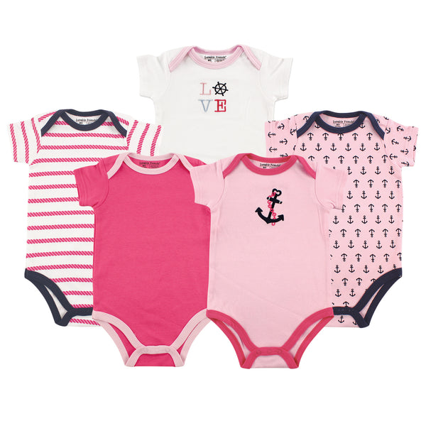 Luvable Friends Cotton Bodysuits, Girl Nautical