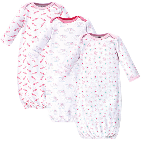 Luvable Friends Cotton Gowns, Girl Elephant Hearts