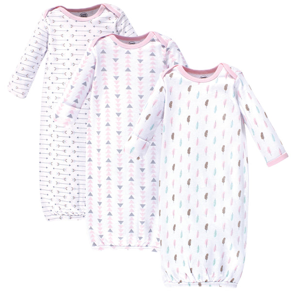 Luvable Friends Cotton Gowns, Girl Feathers