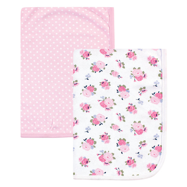 Luvable Friends Cotton Swaddle Blanket, Floral