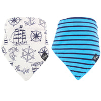 Hudson Baby Cotton Bandana Bibs, Nautical