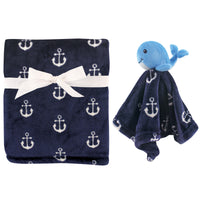 Hudson Baby Plush Blanket with Security Blanket, Whale