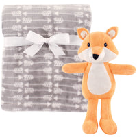 Hudson Baby Plush Blanket with Toy, Fox