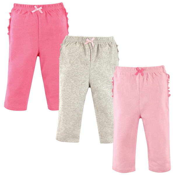 Hudson Baby Cotton Pants and Leggings, Pink Gray