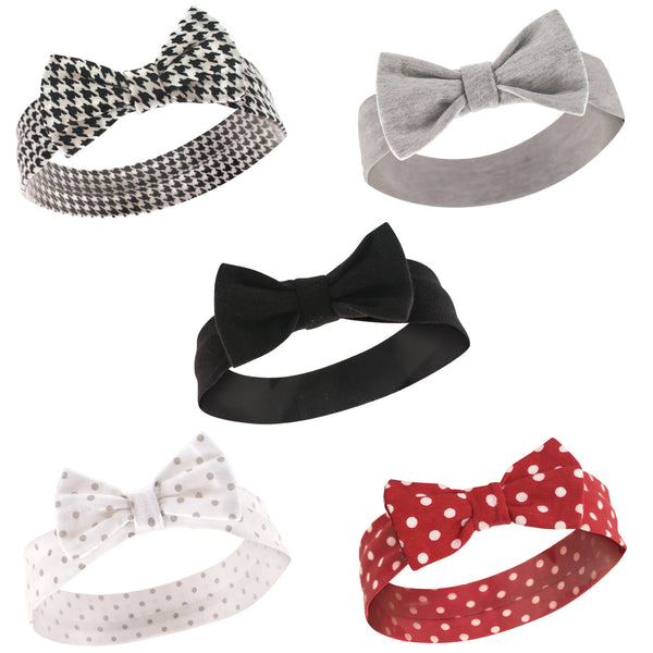 Hudson Baby Cotton and Synthetic Headbands, Houndstooth