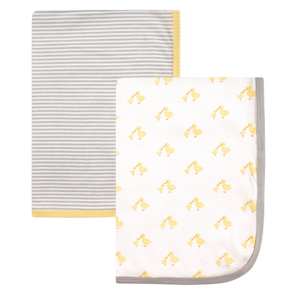Hudson Baby Cotton Swaddle Blankets, Ducks