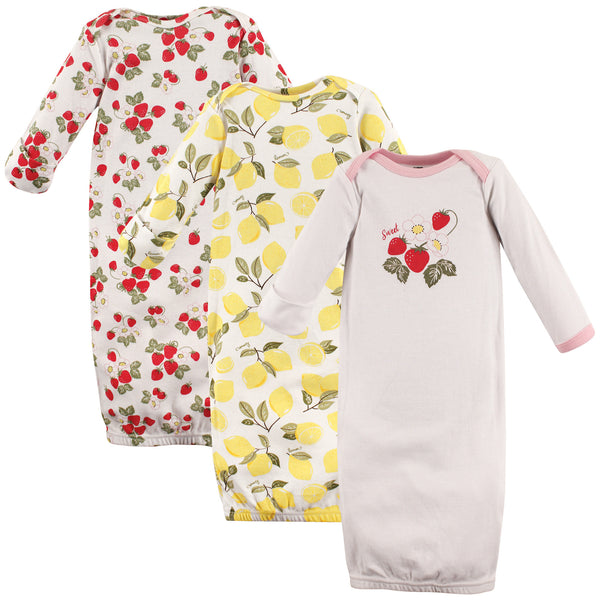 Hudson Baby Cotton Gowns, Strawberry Lemon