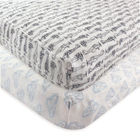 Hudson Baby Cotton Fitted Crib Sheet, Airplane