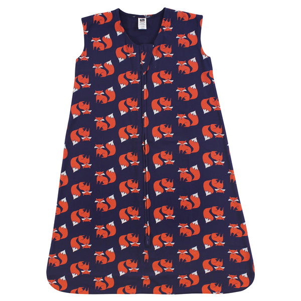 Hudson Baby Cotton Sleeveless Wearable Sleeping Bag, Sack, Blanket, Fox