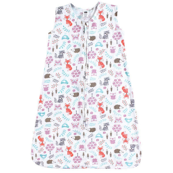 Hudson Baby Cotton Sleeveless Wearable Sleeping Bag, Sack, Blanket, Woodland Fox